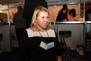 Dariya Gribanova, a member of the Erasmus Mundus Alumni Communications Team