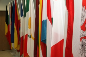 EUMS flags at Delegation's new office
