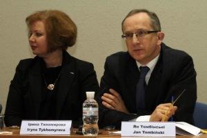 Iryna Tykhomyrova, President of the IMI-Kyiv Business School, and Jan Tombiński, Head of the Delegation of the European Union to Ukraine