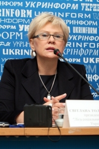 "Svitlana Tolstoukhova, President of implementing NGO ""League of Social Workers of Ukraine"""