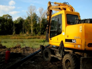 Water pipeline building works in Nedrygailiv rayon, Sumy region, due to EU-UNDP project