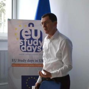 Andrew Rasbash, Head of Operations at the EU Delegation to Ukraine, at EU Study Days