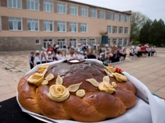 School in Zhuravli, Crimea, renovated due to support provided by the German Federal Government