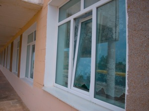 New windows provided to the school due to German Federal Government's (through KfW) support