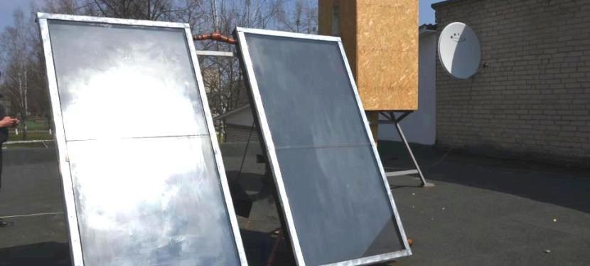 Solar energy: EU helps install solar energy collector in a villageschool