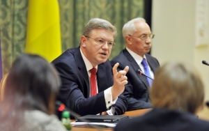 Stefan Fuele, EU Commissioner for enlargement and ENP, and Mykola Azarov, Ukraine's Prime Minister