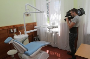 New dental chair provided thanks to the EU/UNDP programme