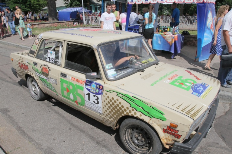 A biofuel car that joined the moto-rally