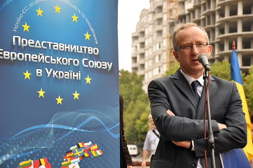EU ambassador to Ukraine, Jan Tombiński, launched the EU Delegation's new information campaign in Mykolaiv