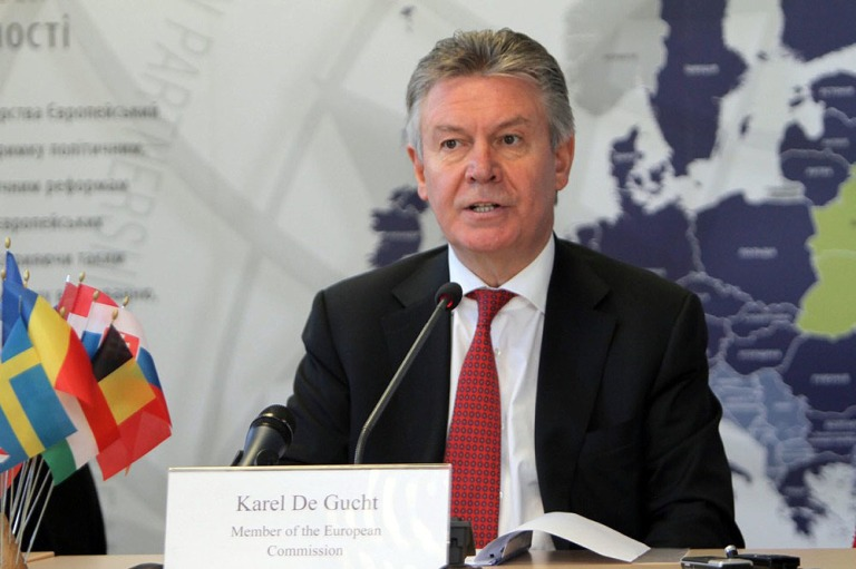 European Commissioner for trade Karel De Gucht in Kyiv on October 2nd