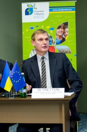 "Walter Tretton, Head of Operations Section 3 ""Development related to infrastructure (energy, transport) and environment"" of the EU Delegation to Ukraine"