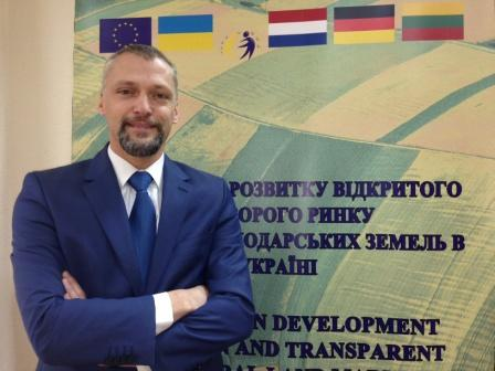 "Stefan Verbunt, Resident Twinning Advisor of the EU-funded project ""Assistance in the development of an open and transparent agricultural land market in Ukraine"""