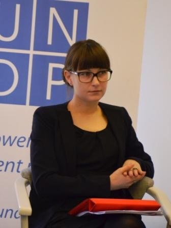 Irina Fedorovych, coordinator of the project 'Reaching equality – participatory approach to enhancement of equality and non-discrimination in Ukraine'
