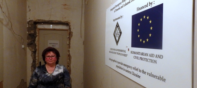 The EU helps put roofs over the heads of IDPs