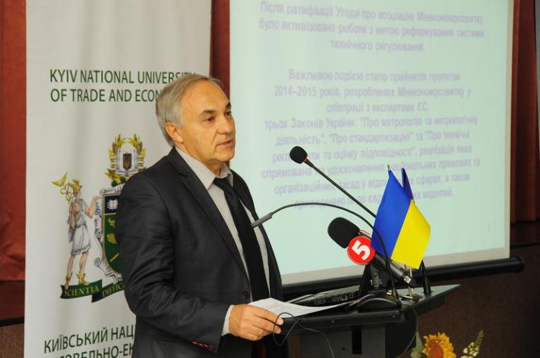 Leonid Vitkin, director of the department of technical regulation and metrology of the Ministry of Economic Development and Trade