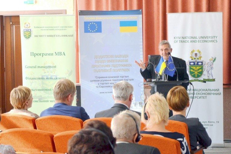 "Stefanos Ioakimidis, team leader of the EU project ""Complementary Measures to the Sector Policy Support Programme, 'Promoting mutual trade by removing technical barriers to trade between Ukraine and the European Union'."""