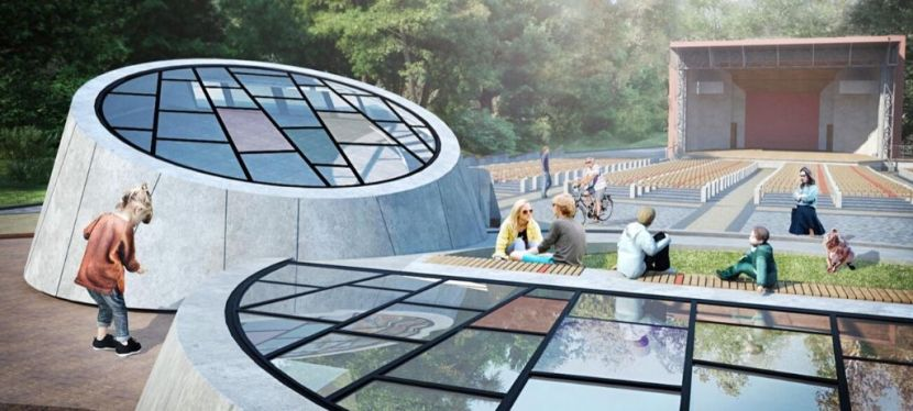 EU funds construction of interactive quest rooms in palace ruins inRivne