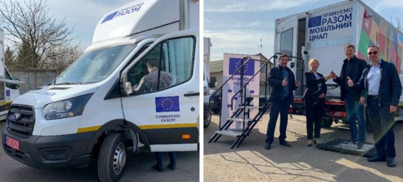 EU delivers two mobile administrative services centres to hromadas in Donetsk region