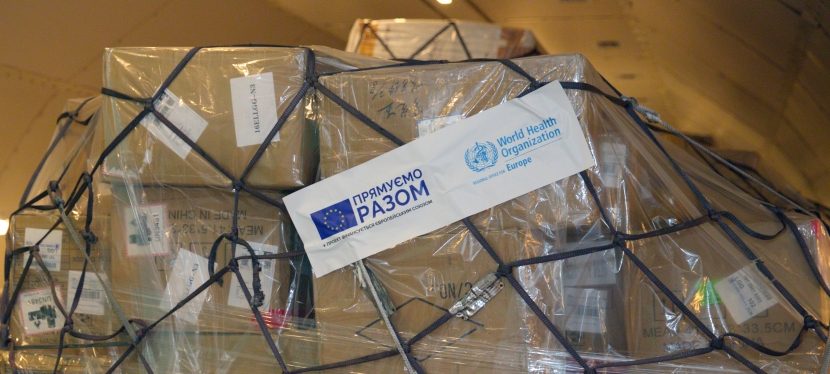 EU and WHO provide one million units of personal protective equipment to Ukrainian health workers