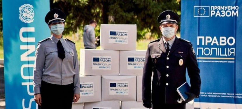 EU and UNOPS provide National Police with personal protective equipment