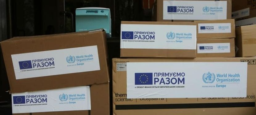 EU and WHO provide Ukraine with equipment for better COVID-19testing