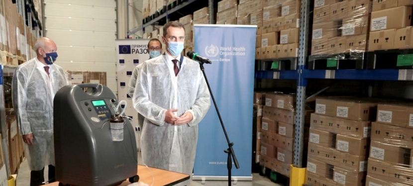 EU and WHO hand over more than 100 oxygen concentrators to 44 Ukrainian hospitals