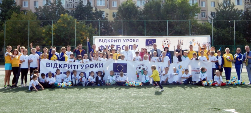 EU teaches displaced children football