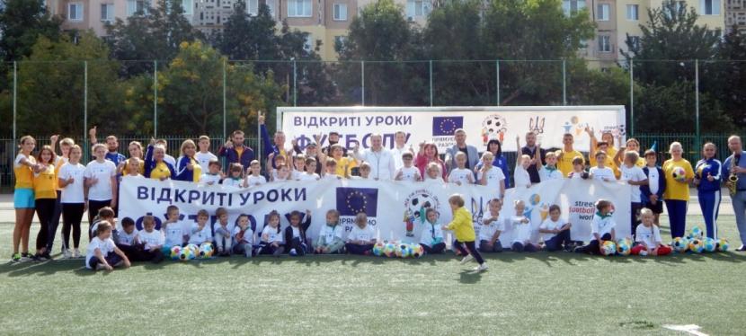 EU teaches displaced childrenfootball